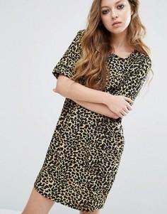 Платье-туника с леопардовым принтом Noisy May - Мульти