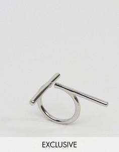 Кольцо с Т-образной планкой Monki - Серебряный