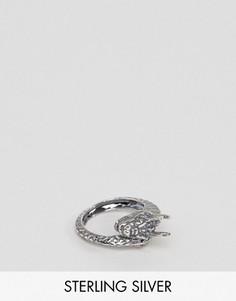 Серебряное кольцо с драконом ASOS - Серебряный