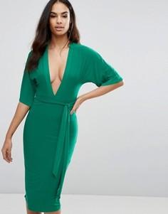 Платье-кимоно миди Club L - Зеленый
