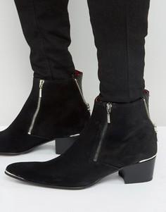 Замшевые ботинки на молнии Jeffery West Sylvian - Черный