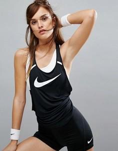 Воздухопроницаемая майка Nike Training Flow - Черный