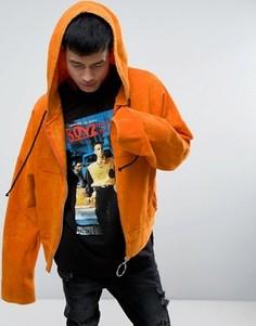 Оранжевый укороченный худи с супердлинными рукавами Granted - Оранжевый
