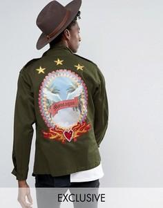 Куртка в стиле милитари Reclaimed Vintage Revived X Romeo & Juliet - Зеленый
