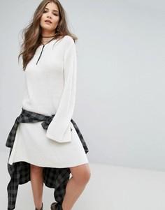 Свободное вязаное платье Boohoo - Кремовый