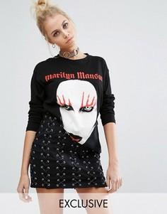 Лонгслив с принтом Marilyn Manson Adolescent Clothing - Черный