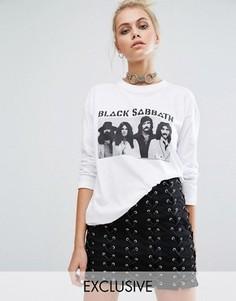 Лонгслив с принтом группы Black Sabbath Adolescent Clothing - Белый