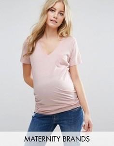 Футболка для беременных с карманом New Look Maternity - Розовый