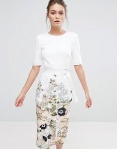 Платье-футляр Ted Baker Layli - Белый
