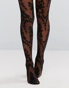 Колготки с цветочным рисунком пейсли Ann Summers - Черный