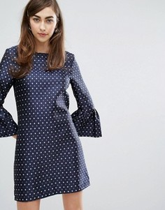 Платье с броскими рукавами Sister Jane - Темно-синий