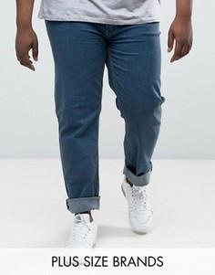 Комфортные выбеленные джинсы Duke PLUS - Синий