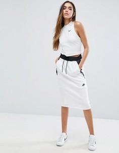 Трикотажная юбка миди Nike Tf - Белый