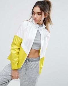 Бело-желтая ветровка с капюшоном Nike - Мульти