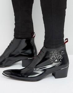 Ботинки чукка с перфорацией в виде черепа Jeffery West Sylvian - Черный