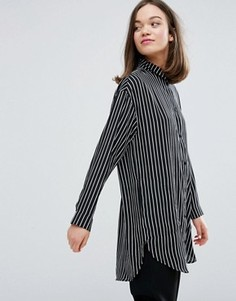 Удлиненная рубашка в полоску Monki - Мульти