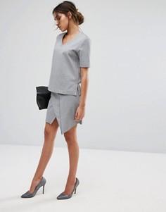 Трикотажная юбка Selected Femme - Серый