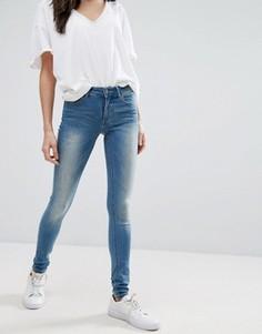 Выбеленные джинсы скинни Vila - Синий