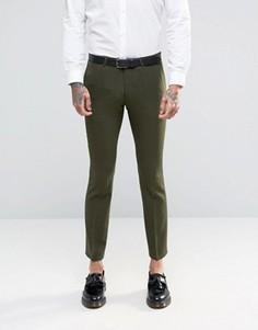 Супероблегающие стретчевые брюки Noose & Monkey - Зеленый