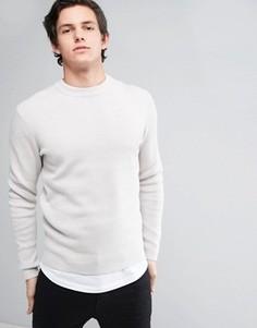 Джемпер из шелковой смеси премиум-класса Jack & Jones - Серый