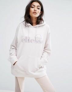Oversize-худи бойфренда с логотипом Ellesse - Фиолетовый