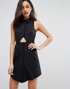 Платье-рубашка с короткими рукавами C/meo Collective Let It Go - Черный