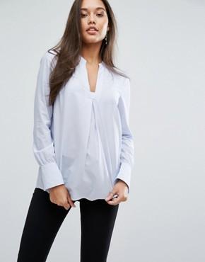 Полосатая рубашка с отделкой воротника Y.A.S Toro - Синий