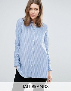 Рубашка от комплекта в тонкую полоску Y.A.S Tall Kolo - Синий
