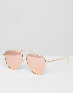 Солнцезащитные очки-авиаторы с розовыми зеркальными линзами Jeepers Peepers - Розовый