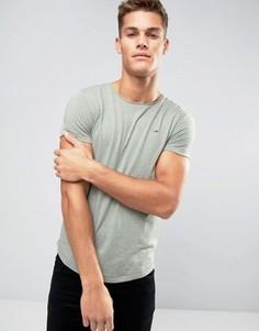 Меланжевая футболка цвета хаки с логотипом-флажком Tommy Hilfiger Denim - Зеленый