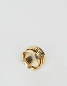 Кольцо с вращающимся элементом Orelia Meditation - Золотой