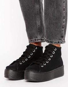 Высокие кроссовки на толстой подошве ASOS DIVAN - Черный