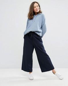 Укороченные брюки с широкими штанинами Monki - Темно-синий