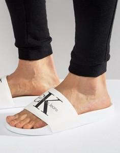 Шлепанцы с логотипом Calvin Klein Viggo - Белый