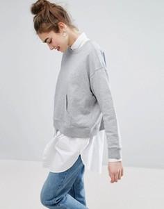 Свитер с карманом Monki - Серый