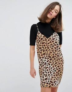 Платье-майка с леопардовым принтом Monki - Мульти