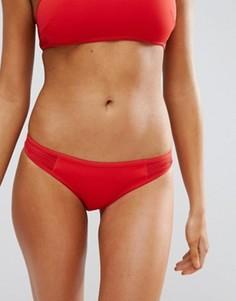 Плавки бикини из неопрена с сеточкой Stella McCartney - Красный