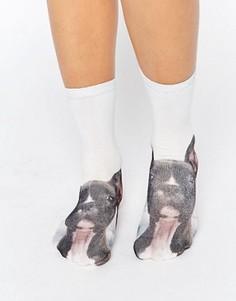 Носки с собаками Monki - Синий