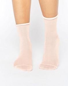 Блестящие носки Monki - Розовый