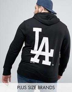 Худи с принтом на спине Majestic PLUS L.A. Dodgers - Черный