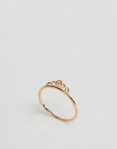 Кольцо в виде короны на большой палец ASOS - Золотой
