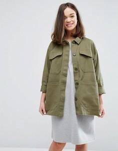 Куртка в стиле милитари Monki - Зеленый