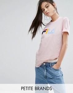 Oversize-футболка с логотипом Fila Petite - Розовый