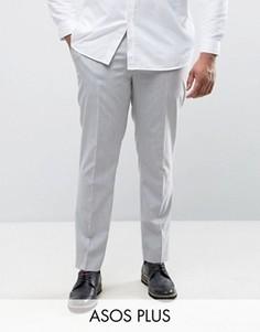 Облегающие брюки ASOS PLUS - Серый
