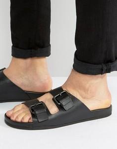 Черные кожаные сандалии Aldo Grandchamp - Черный