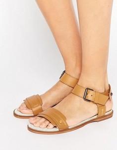 Светло-коричневые кожаные сандалии G-Star Claro - Рыжий
