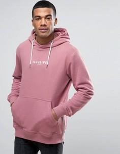 Худи розового цвета с логотипом Illusive London - Розовый