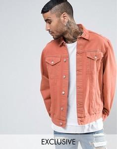 Джинсовая куртка оранжевого цвета Reclaimed Vintage - Оранжевый