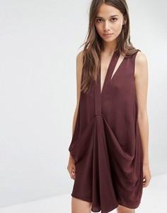 Платье миди со сборками спереди Stylestalker - Красный