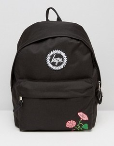 Рюкзак с цветочной вышивкой Hype - Черный